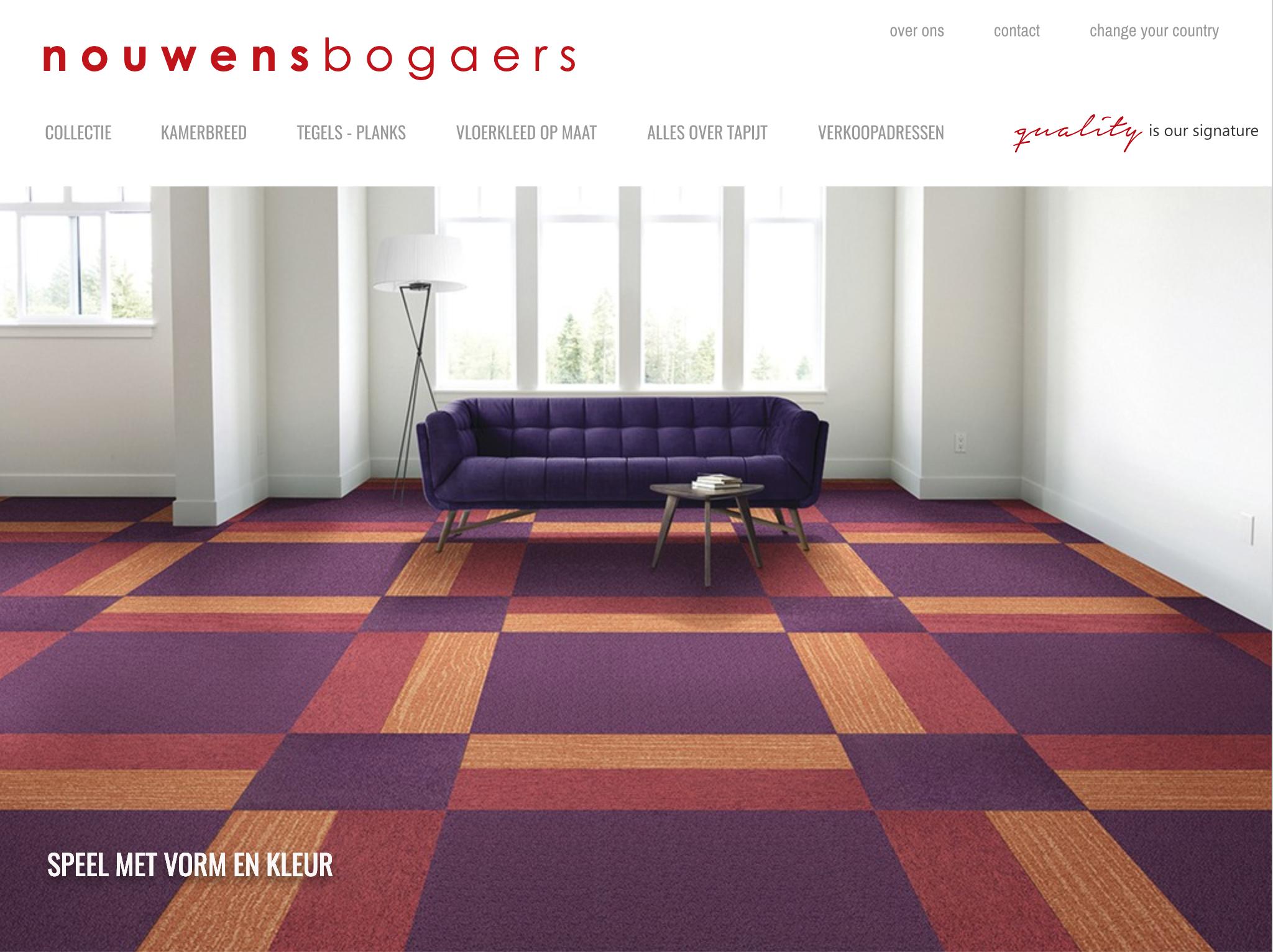 Bekijk de tapijt collectie van Nouwens Bogaers